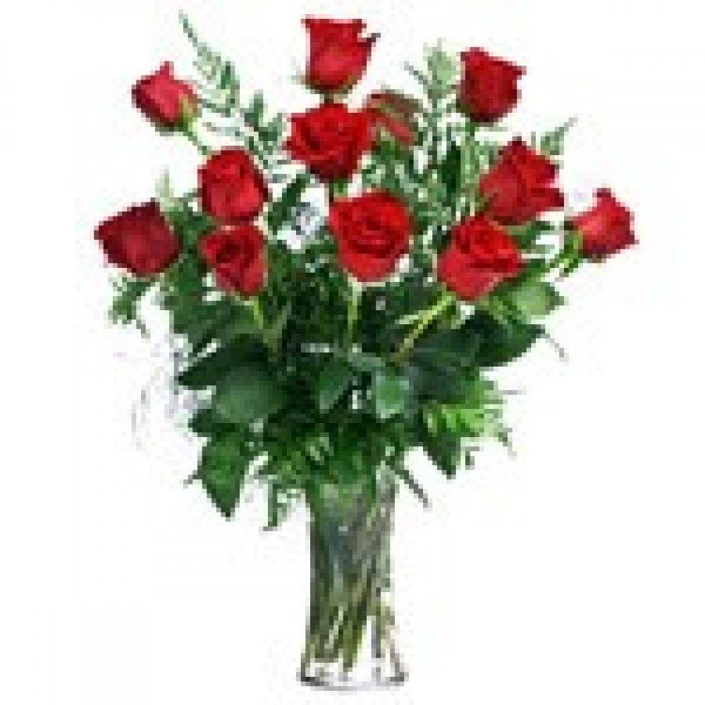 12 roses in a vase the flower shop malta 12 roses in a vase floridaeventfo Choice Image