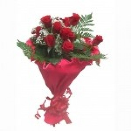 12 Roses Gift Wrapped