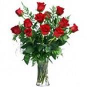 12 Roses in a Vase
